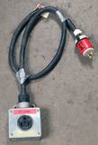 (1) approx 5' 30 AMP, 250- volt single patch cord