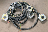 Lot of (4) various lengths tie-on 50 AMP 240-480 volt patch cords