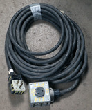 (1) approx 50' 50 AMP, 240-480 volt single box extension cords
