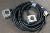 (1) approx 35' 50 AMP, 240-480 volt double box extension cord
