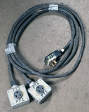 (1) approx 25' 50 AMP, 240-480 volt double box extension cord