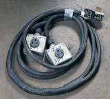 (1) approx 25' 50 AMP, 240-480 volt double extension cord