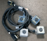 (2) approx 10' 50 AMP, 240-480 volt double box extension cord