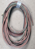 (2) sections 25' each/50' over - oxy/acetylene hoses