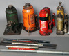 Lot of (6) hydraulic little jacks - 2-ton, 10-ton and one goes along for pa