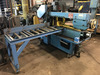 DoAll Model C-916 horizontal band saw with infeed && outfeed roller tables