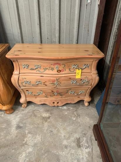 Like new 3 drawer ornate dresser