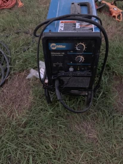 Millermatic 135 wire welder on cart