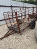"4""X 8"" homemade livestock trailer, angle iron & rebar"