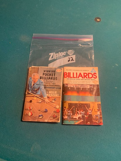 2 billiard rule books