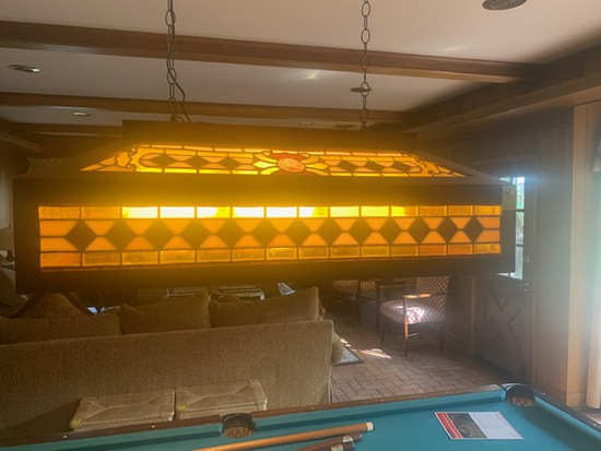 Vintage Pool Table Light