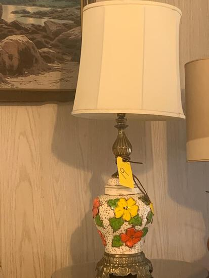 Ornate floral lamp