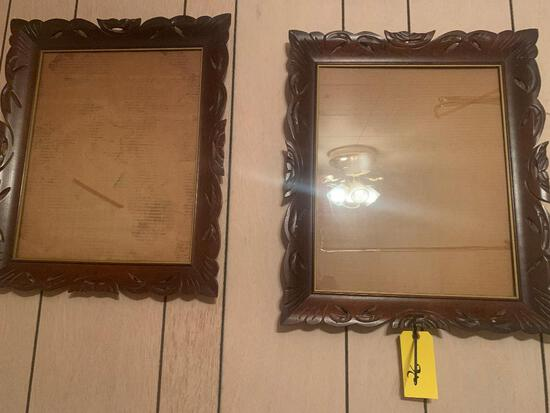 2 very ornate wooden picture frames