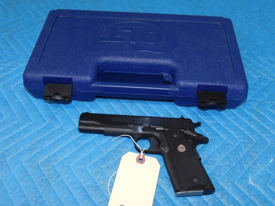 Colt 1911 Government Model .38 Super Caliber w/ Case