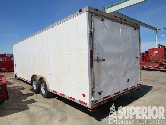 (x) 2012 WELLS CARGO 8' x 24' T/A BH Alum Cargo Trailer, VIN-1W4200L2XC2024