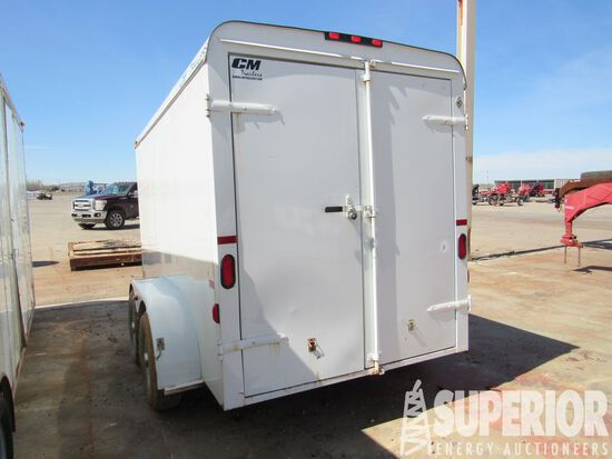 (x) 2014 CM 6' x 12' T/A BH Alum Cargo Trailer, VIN-49TCB1223F1015496, w/ R