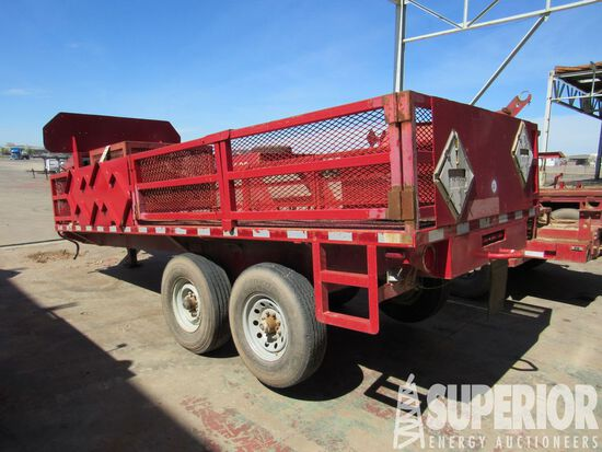 """(x) 1970 Homemade 25'OAL T/A GN Trailer, VIN-TR17125, w/ 6'4"""" x 16' Bed, 24"""