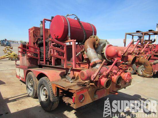 "(x) MISSION MAGNUM 6"" x 8"" Cent Pump p/b DETRIOT 6-71 Diesel, Manual Trans,"