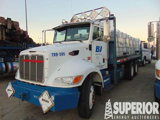 (x) 2006 PETERBILT 335 T/A Flatbed Truck, VIN-2NPL