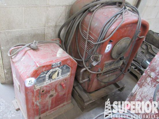 (2) LINCOLN AC/DC Welding Machines, 250 Amp & 225