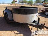 (x) 2000 STEDHAM 10' T/A Bumper Hitch Utility Trai