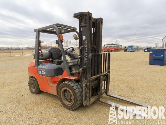 2004 TOYOTA 7FGU30 LP 5620# Forklift, S/N-65784, w