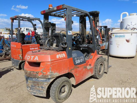 2006 TOYOTA 7FGU30 LP 6000# Forklift, S/N-70488, w
