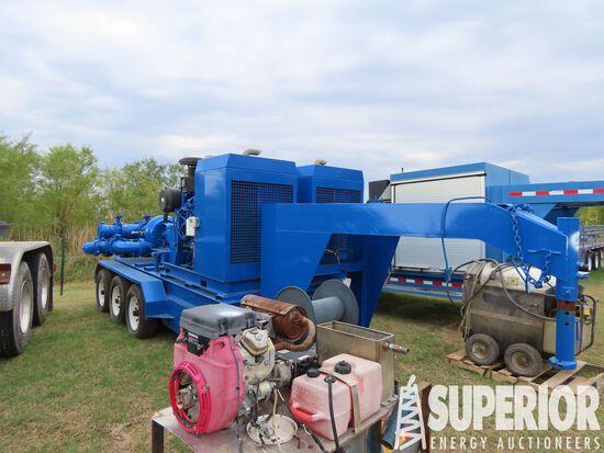 (x) 2011 J&B TRAILERS 3-Axle Gooseneck Boost Pump