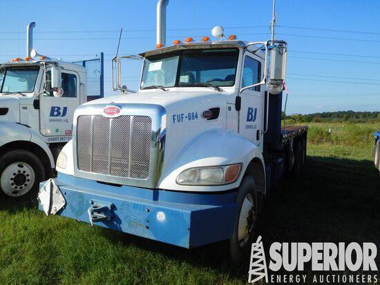 (x) 2009 PETERBILT 340 T/A Flatbed Truck, VIN-2NPR