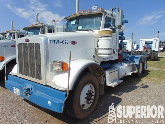 (x) 2012 PETERBILT 367 T/A Winch Truck, VIN-1XPTD4