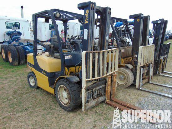 YALE GDP070VX 5800# Forklift, S/N-B875Y04698H, p/b