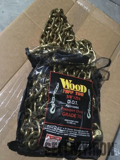 Unused 3/8 in X 20 ft D.O.T. Approved G70 Chain