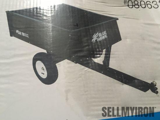 Unused Blue Hawk 10 Cu Ft Dump Cart