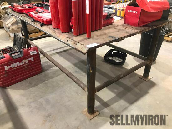 Steel Table 8ft x 5ft x 38in high
