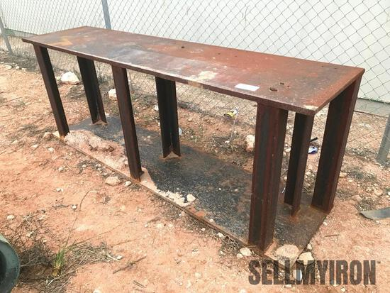Steel Table 8ft x 2ft x 36 in high