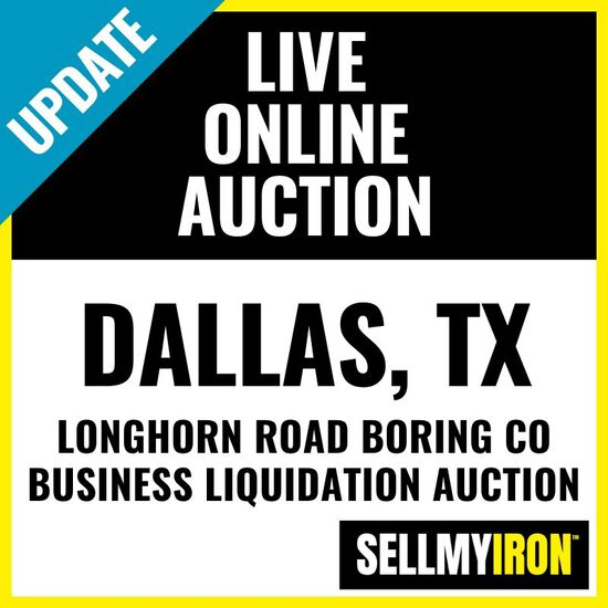 Longhorn Road Boring Business Liquidation Auction
