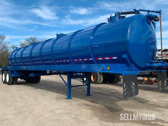 2014 Troxell 130BBL T/A Vacuum Trailer