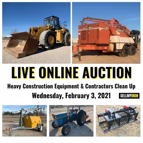 Heavy Equipment & Contractors Clean Up Auction