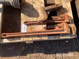 (2) Pipe Wrenches & Receiver Hitch [YARD 1]
