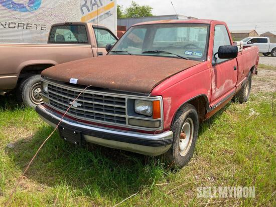 1987 Chevrolet Pickup Truck, Parts Only [YARD 3]