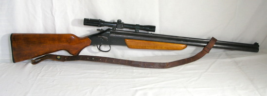 Rare Savage Stevens 22-20 Gauge over/under. 4x scope with strap and swivels