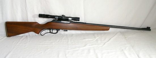 Marlin Lever Action 22 long Model 56 Microgroove with Scope. Estimated Valu
