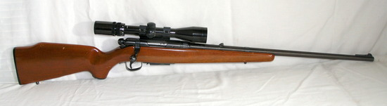 Savage Model-340 223 Caliber Bolt Action with Scope. Estimated Value: $800-