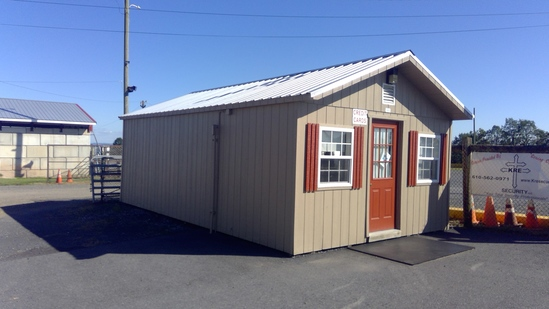 14'x24' Portable Shed. Finished Interior W/AC