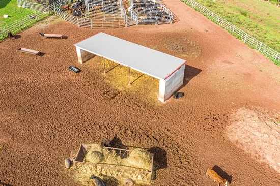 15'X45' Cement Lego Block 3 Sided Building