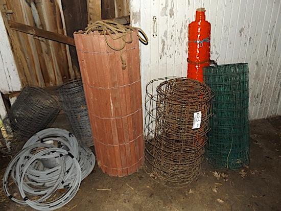 Picket fencing, wire fencing