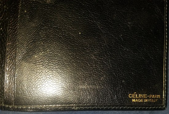 Accessories - Designer - Men; New Black Celine Wallet