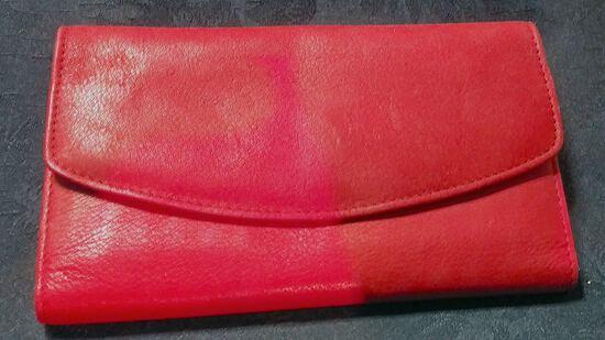 Accessories - Designer - Women; Red Leather Wallet