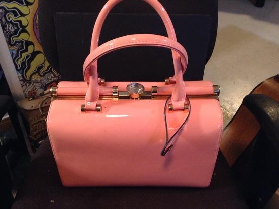 Accessories - Designer - Women; Pink Jeweled Purse