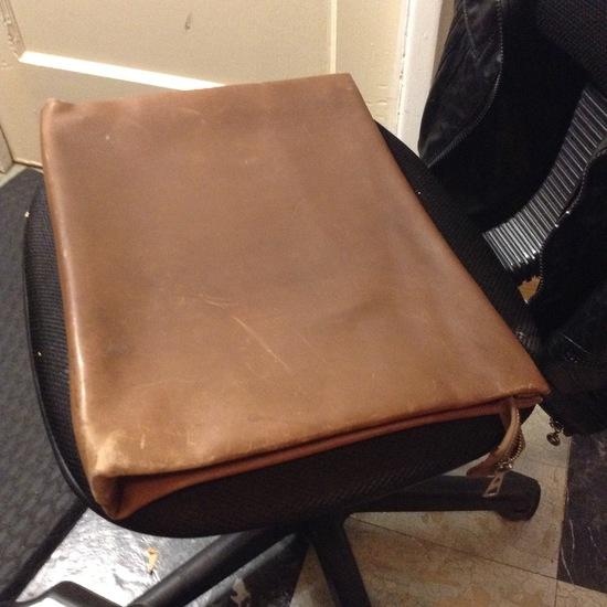Accessories - Organizer - Unisex; Vintage Leather Briefcase